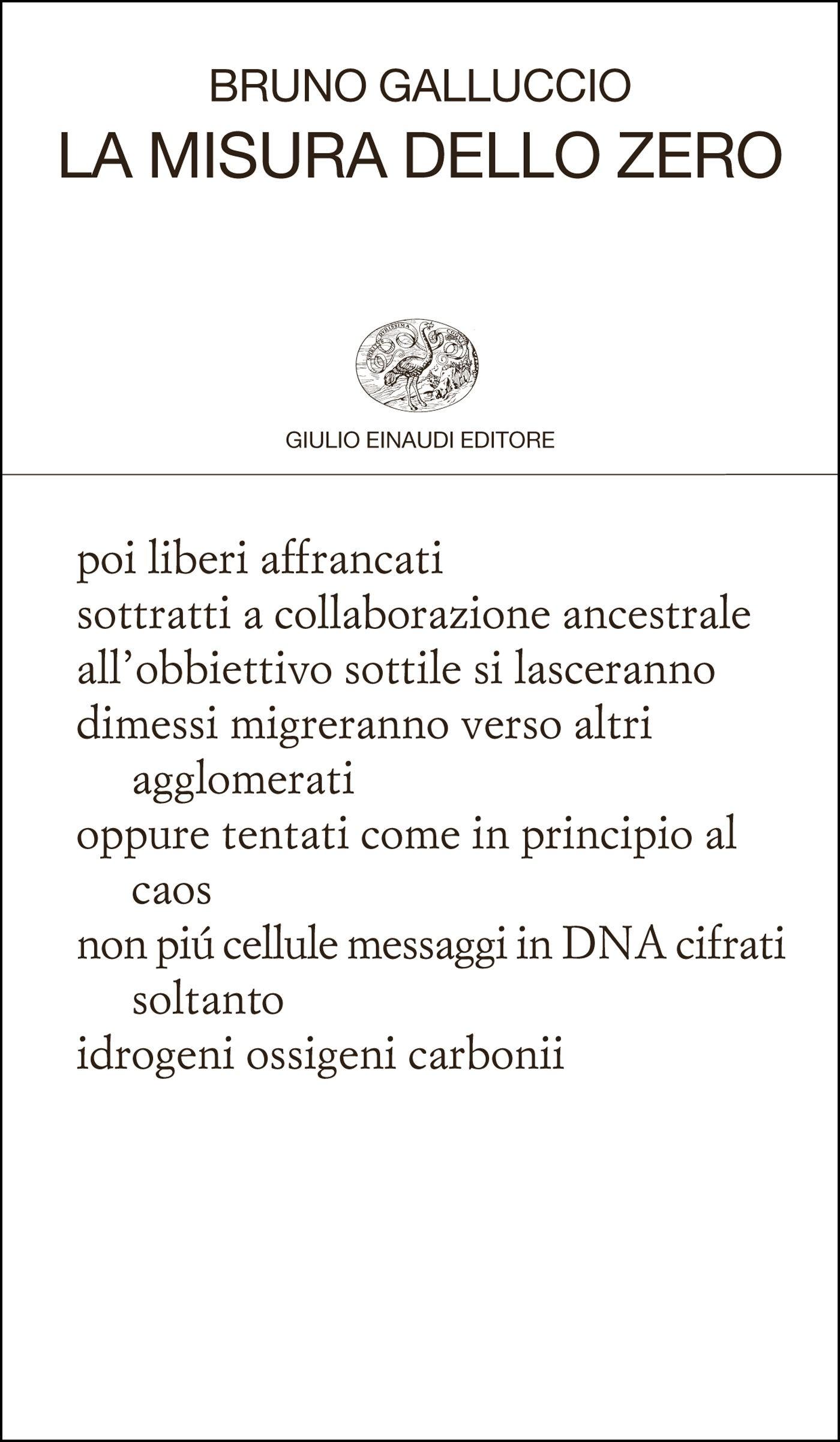 Verticali e La misura dello zero - Bruno Galluccio