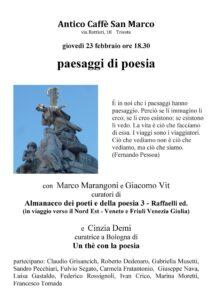 Paesaggi Di Poesia Trieste 23 Febbraio Laboratori Poesia