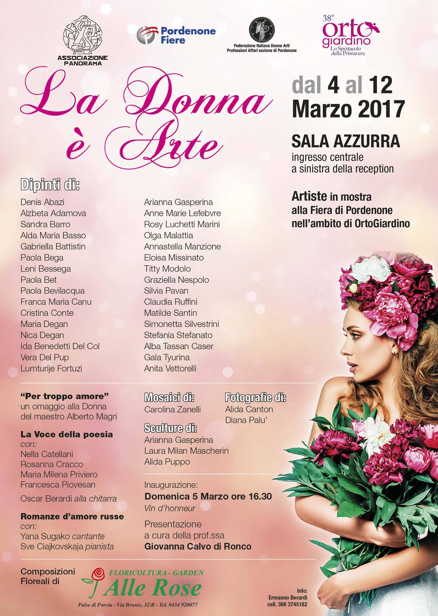 La donna è arte – 4 marzo, Pordenone