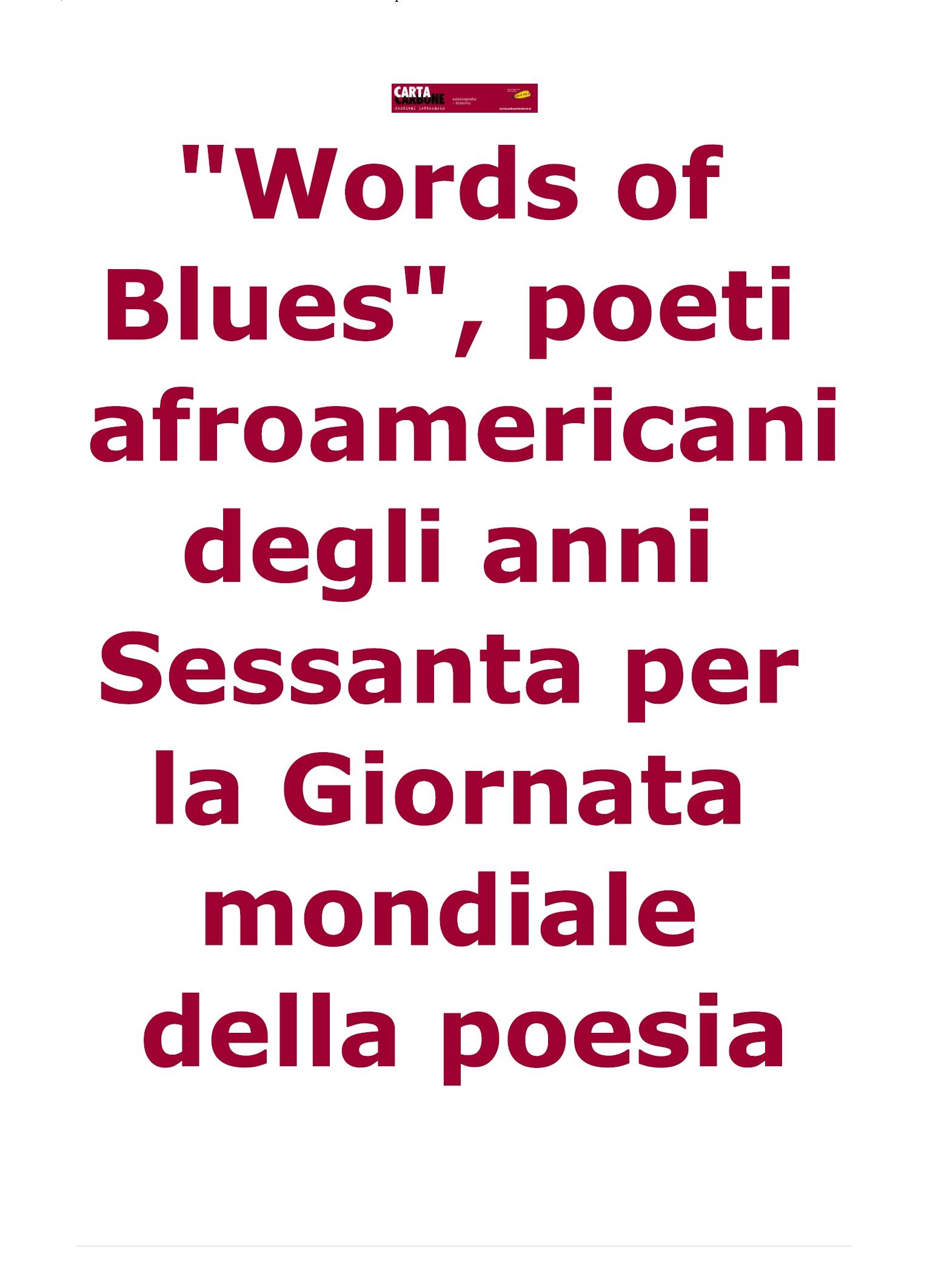 Words of Blues – Treviso 21 marzo