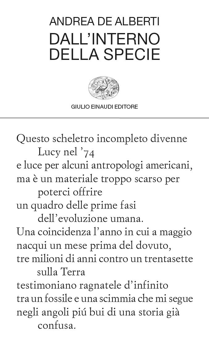 Dall'interno della specie – Andrea De Alberti