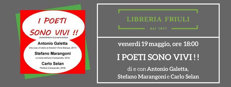 I poeti sono vivi – Udine 19 maggio