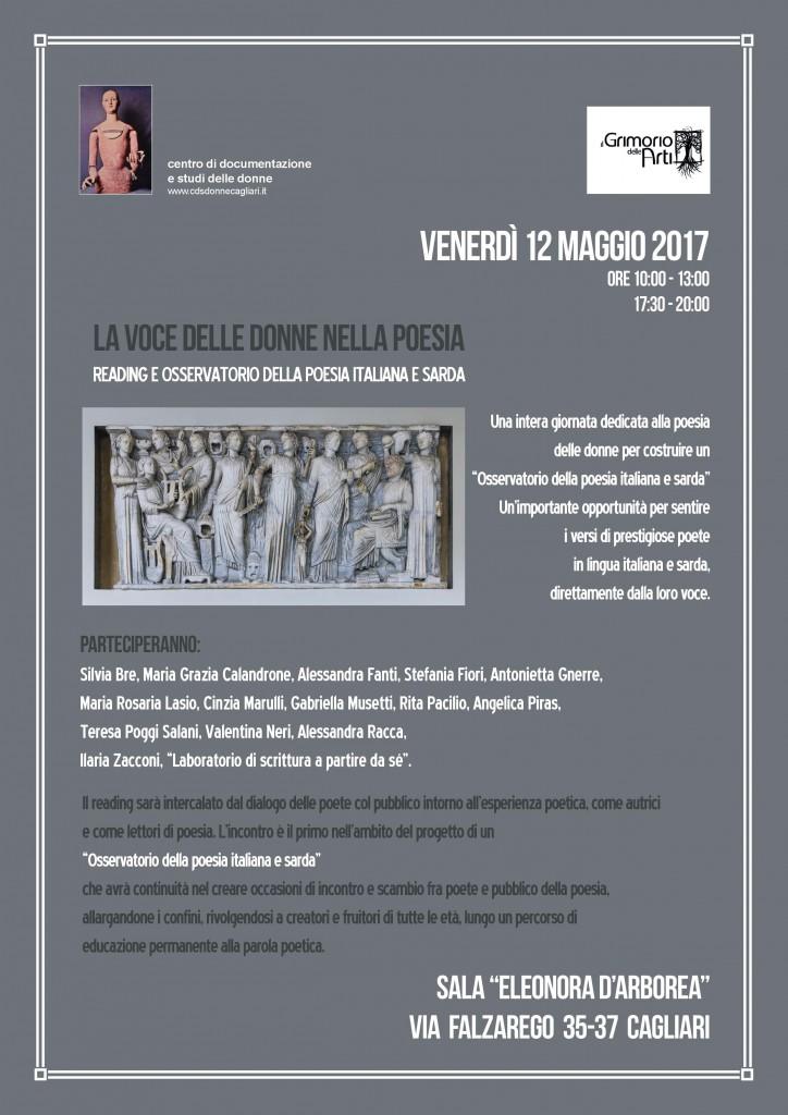 LA VOCE DELLE DONNE NELLA POESIA – Cagliari 12 maggio