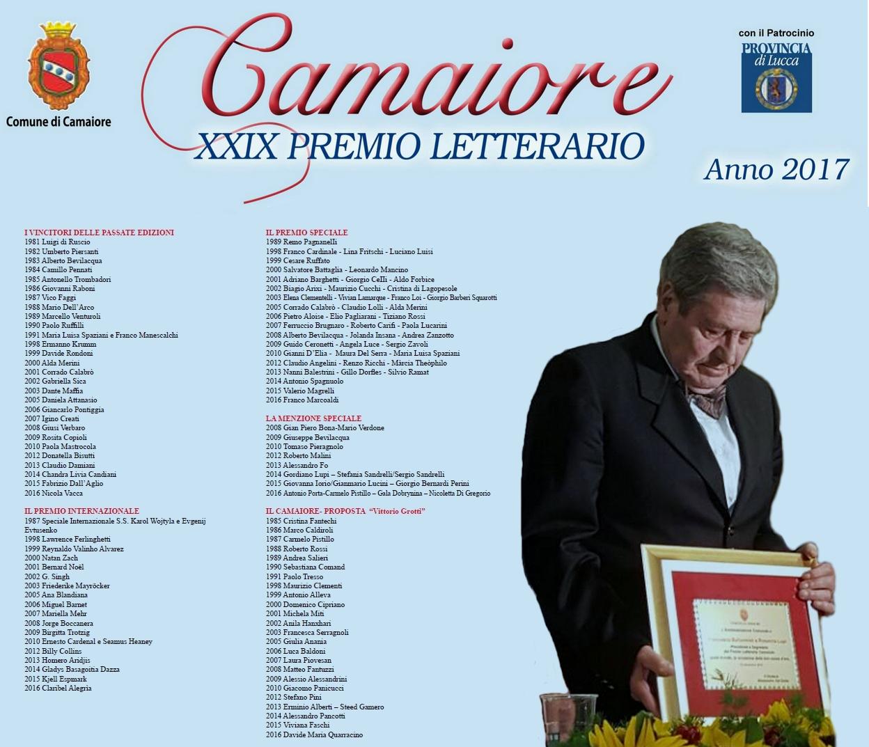 Richiesta intitolazione Premio Camaiore-Belluomini