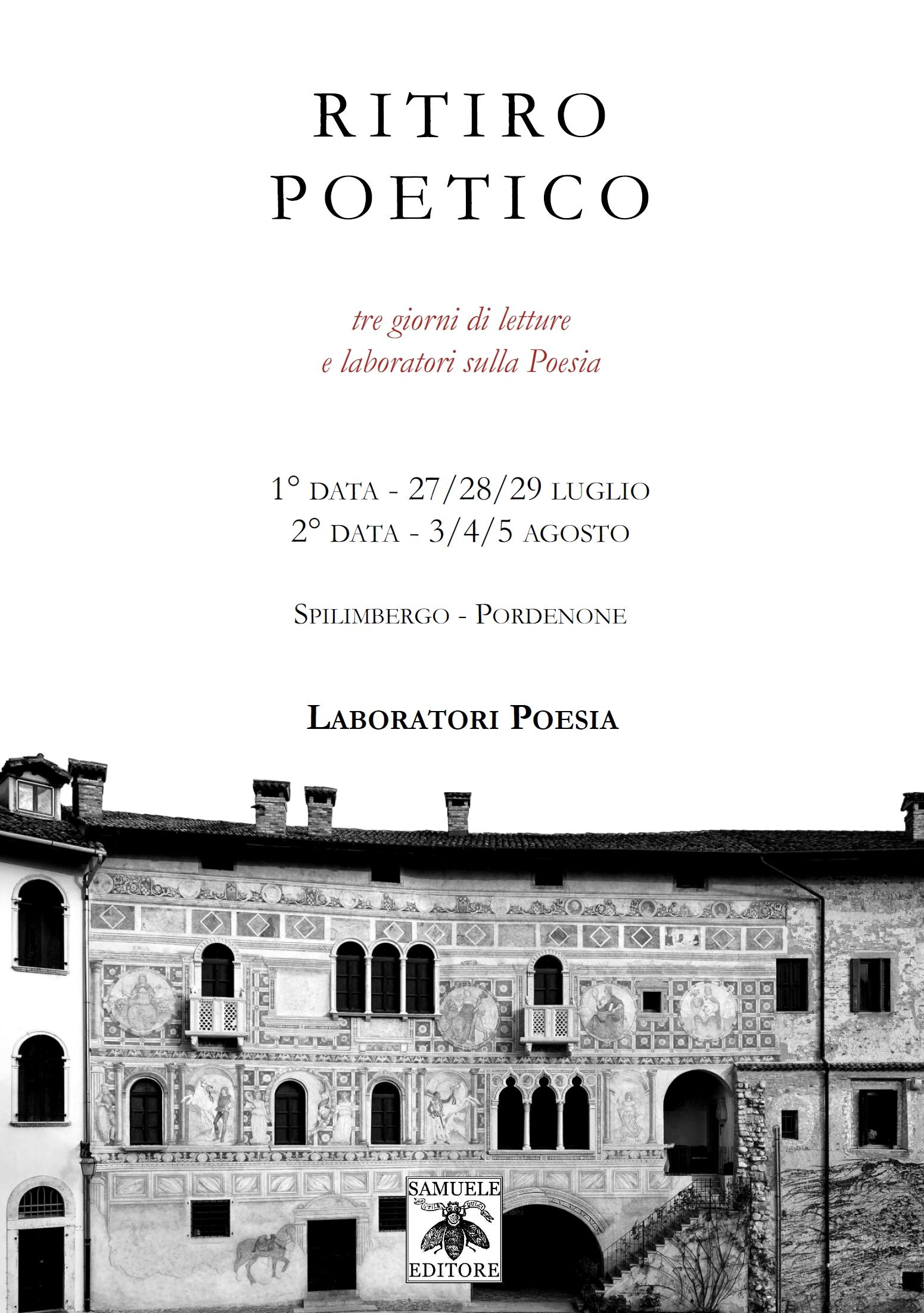 Ritiro Poetico a Spilimbergo - Pordenone 1