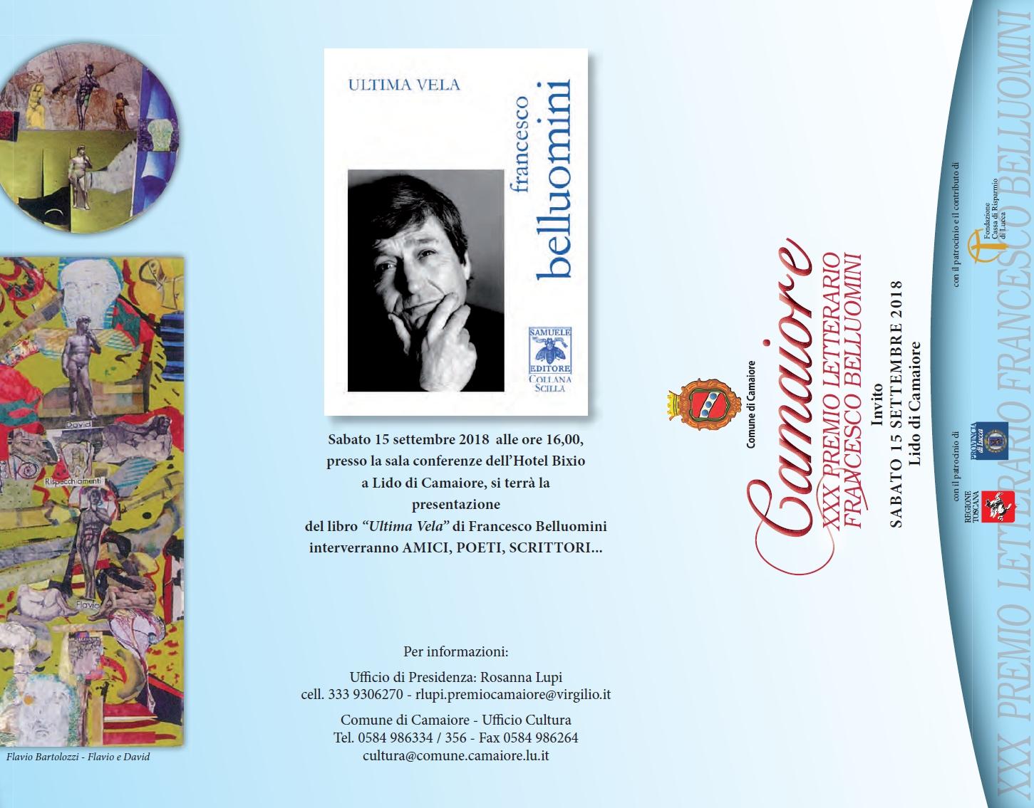 CONFERENZA SULLA POESIA DI FRANCESCO BELLUOMINI – Camaiore, 15 settembre