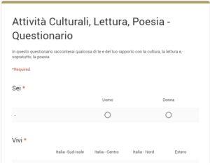 Uno studio per l'ampliamento del pubblico della poesia