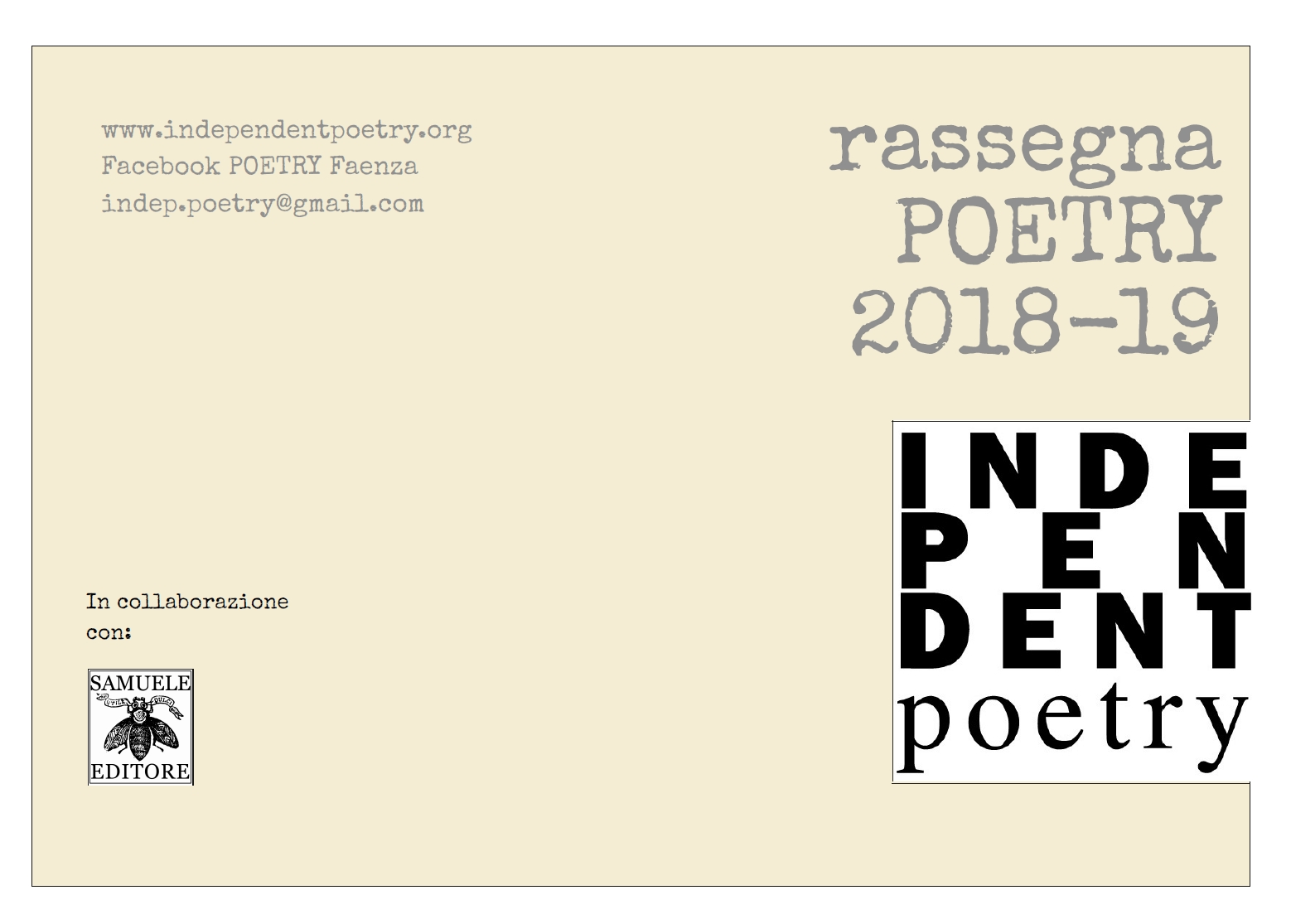 Poetry 2018/2019