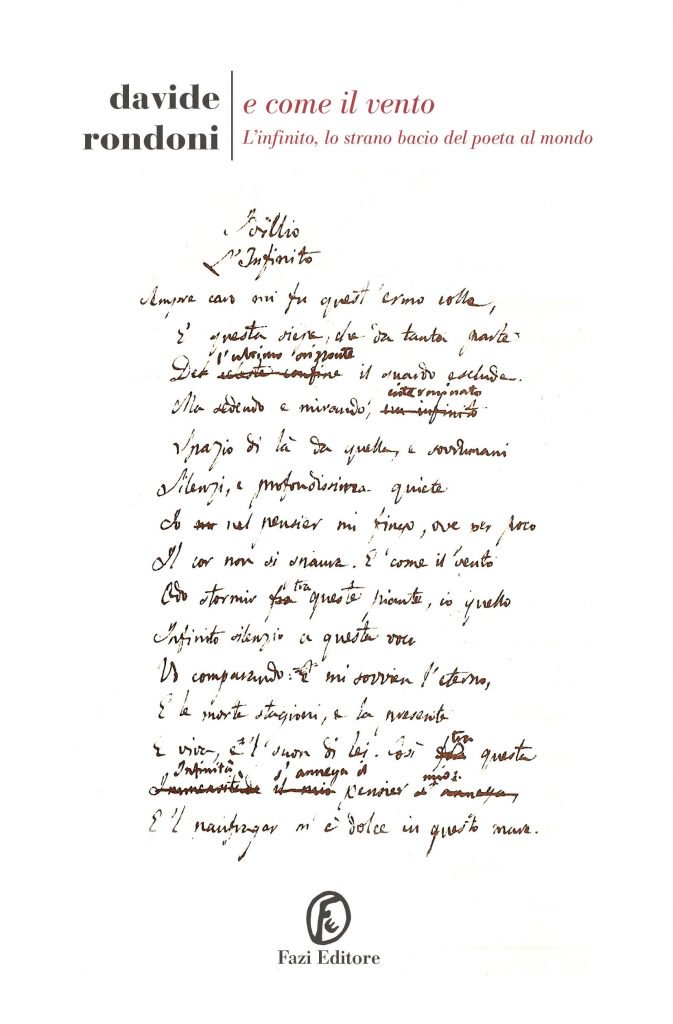 E come il vento – L'Infinito, lo strano bacio del poeta al mondo - Davide Rondoni